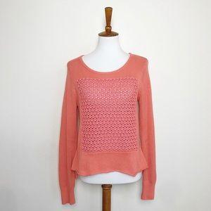 SUNDANCE Orange coral pink knit sweater! Medium